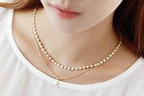 229060 - <NE039-BE05>バニラ真珠ネックレス