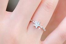 229949 - <RI139-JB11> [見たいスヨン] [小指兼用】少し星リング