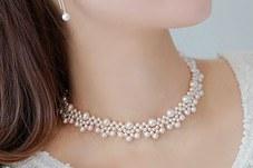 230293 - <NE052-BC16>ヘップバーンのようにチョーカー真珠ネックレス