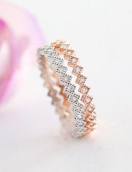 237545 - <RI319-AG15>スリムダイヤモンドパタンリング