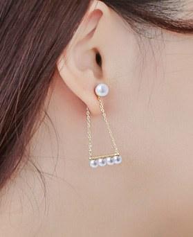 1043548 - <ER773-DG10> [君を愛した時間Oh、Hana] [银针]真珠で女性ピアス