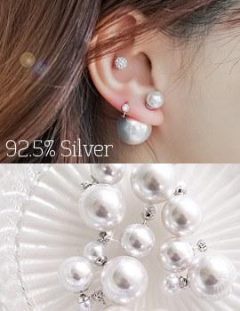 1043869 - <ER851-CB18/19> 【银针]真珠デュエットピアス