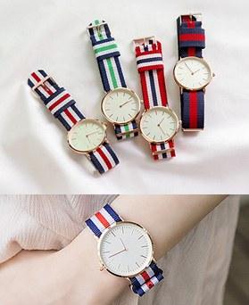 1044470 - <WC104_BD14>ストライプシンプル時計
