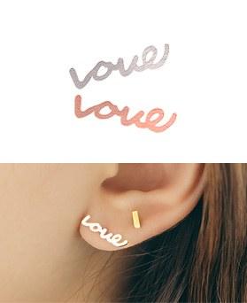 1044729 - <ER1073_GE00> 【単品販売】【シルバー] Loveピアス
