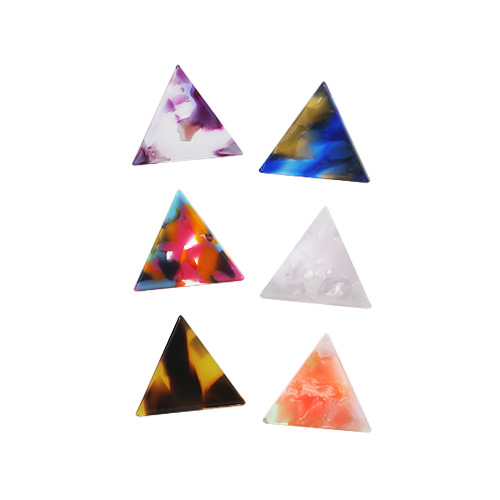 1044859 - <ER1090_GB06~10> [クリップ型]三角パタンピアス