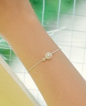 1044885 - <BC624_BD08> [シルバー]真珠痩身ブレスレット