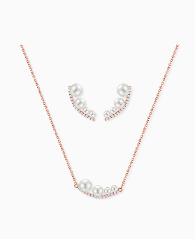 1045262 - <JS237_IH10> [ネックレス+ピアス] [银针]ルート真珠セット