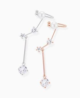 1045886 - <ER1383_CD09> 【バラ売り] [银针】トゥルー真珠続きカーフ