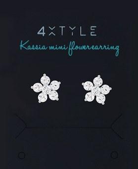 1046012 - <SL482-BD00> [シルバー] Kassiaミニお花ピアス