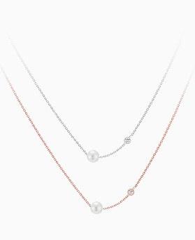 1046084 - <SL489-BD00> [シルバー] Crisy 真珠の首飾り