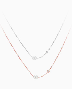 1046084 - <SL489-BD00> [シルバー]クリッシー真珠ネックレス