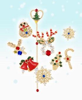 1046421 - <ER1828_S> [品切れ間近】【银针]クリスマスソングピアス