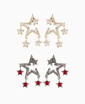 1046459 - <ER1523_CH05> 【银针]スパーキーアンティーク星ピアス