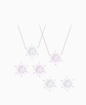 1046519 - <JS55_ID03> [ピアス+ネックレス]タリー雪花セット