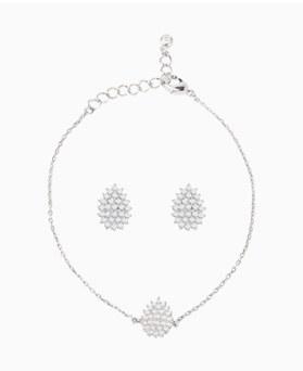 1046764 - <JS61_IE14> [ピアス+ブレスレット] [银针】ルイ・ル・涙セット