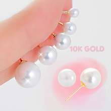 230306 - <K14J012-GI17> 【単品販売】【10Kゴールド]核真珠ピアス