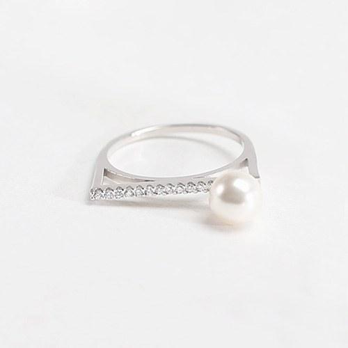 1047220 - <RI805_AB19> [シルバー]リンダ真珠スティックリング