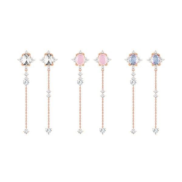 1047224 - 【银针]イザベルキュービックドロップピアス