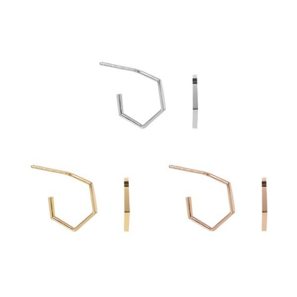 1047228 - <ER1804_DG18> [シルバー]シンプルパベルピアス
