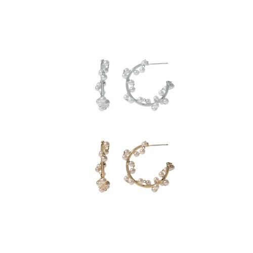 1047239 - 【银针]ブリュエル真珠ピアス