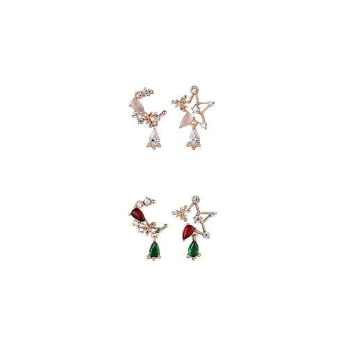 1047243 - 【银针]ローラングムーンスターアンバランスピアス