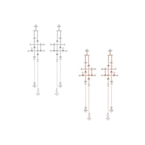 1047252 - 【银针]ピュナクロスピアス
