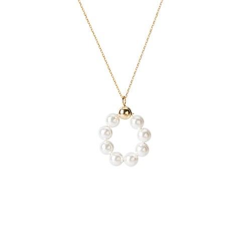 1047280 - <NE509_IH05> [シルバー]メイビー真珠ネックレス
