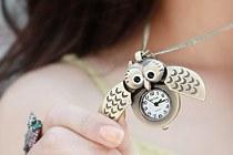 223077 - <NE099-S> 【当日出荷】ビンテージ寂しい時計ネックレス