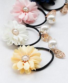 1047597 - <HA664_EG06>晴れました花真珠ポニーテール