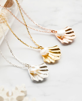 1047698 - <NE535_BE04> [シルバー]アマンチ真珠ネックレス