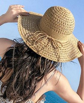 1047852 - リボン・かわいいわら帽子