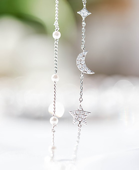 1047973 - <BC778_IA02>スカーレット真珠ブレスレット