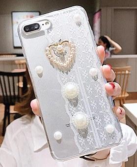 1048546 - <FI202_S> [品切れ間近]かわいいレース真珠のiPhoneの互換性ケース