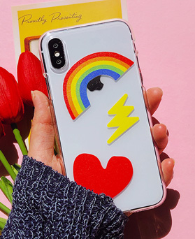 1048650 - <FI222_DM07>虹ポップ、iPhone互換性のあるケース