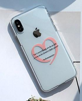 1048654 - <FI226_DM07>ピンクハート書簡、iPhone互換性のあるケース