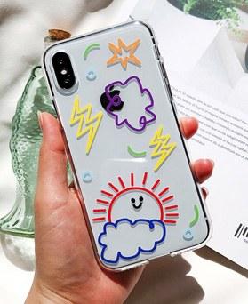 1048688 - <FI234_DM07>虹装飾iPhoneの互換性のあるケース