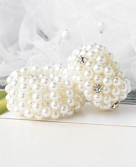 1048906 - <HA732_EC07>ブラン真珠ポニーテール