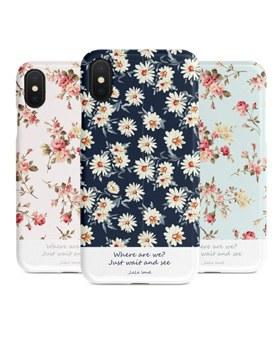 1048957 - <IP0035>花パタンイラスト、iPhone互換性のあるケース