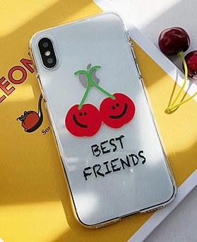 1048996 - <IP0043>ベストフレンドチェリー、iPhoneの互換性ケース