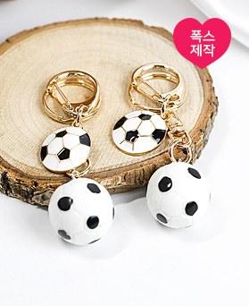 1049086 - <AP0486> [ハンドメード]少しサッカーボールキーリング