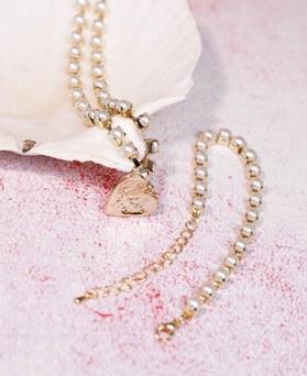 1049197 - かわいい真珠ラインネックレス