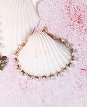 1049198 - <BC802_IF13>かわいい真珠ラインブレスレット