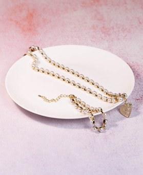 1049199 - <JS345_IF13> [ネックレス+ブレスレット]かわいい真珠ラインセット