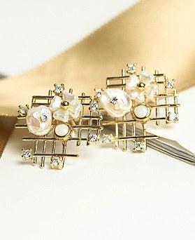 1049299 - <ER2153_DE27> [clip earring]蜂蜜花ピアス