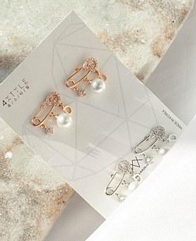 1049386 - <ER2195_IF14> 【银针]ユニクリップ型真珠ピアス