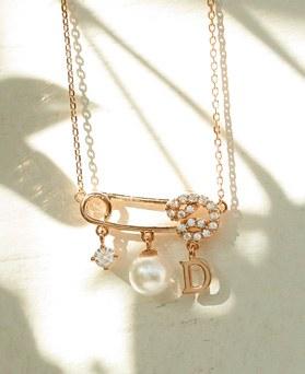 1049387 - <NE585_IF14> [シルバーチェーン]ユニクリップ型真珠ネックレス