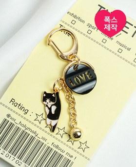 1049471 - <AP0575> [ハンドメード]愛の鐘猫キーリング