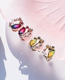 1049508 - <ER2213_GI04>甘いクリスタルベリーclip earring