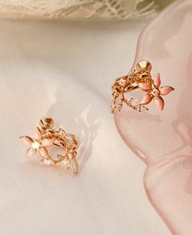 1049541 - <ER2223_GI08>ステム花clip earring