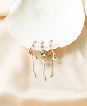 1050216 - <ER2262_DK03> [clip earring]あります真珠clip earring